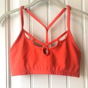 Free People racerback cutout athletic bra NWOT